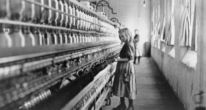A young girl atwork in a cotton mill: Without any intended disrespect to the experiences of exploitation faced by millions of child labourers, it is  emblematic of  the writer's level of existence in the present digital age