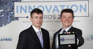 Cormac Garvey, chief technology officer of Hal Software, and Michael Darcy, chief executive. Photograph: Conor McCabe