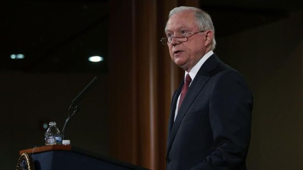 US attorney general Jeff Sessions announces that the Trump administration is ending the Obama-era Deferred Action for Childhood Arrivals (Daca) programme, in Washington, DC. Photograph: by Alex Wong/Getty Images