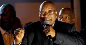 South African president Jacob Zuma has links to the  Gupta family, who Bell Pottinger portrayed as part of a struggle to defeat 'white monopoly capital'. Photograph: Mike Hutchings/Reuters