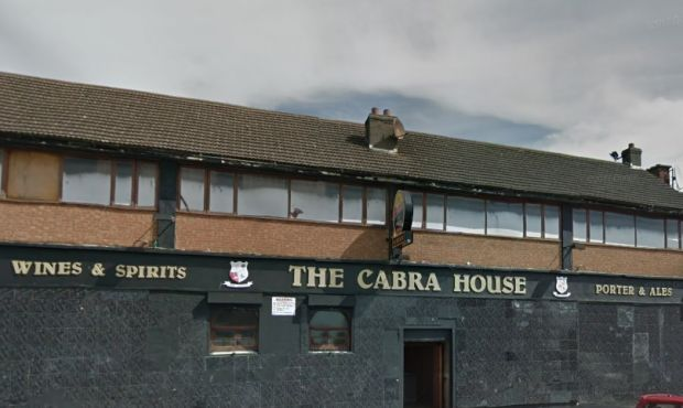 Footage was captured on a mobile phone showing a man riding a pony through the Cabra House pub in Dublin. Image: Google Streetview.