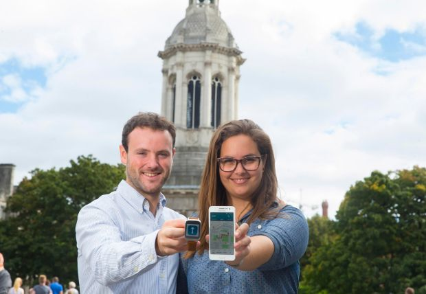 Invented by two Trinity graduates, Robbie Fryers (24)an Talita Holzer Saad (26), Way2B is a smartphone and smartwatch solution, which allows carers to pre-programme set routes with turn-by-turn directions