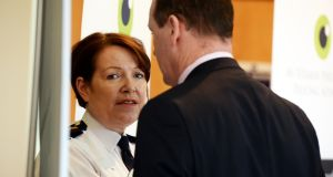 Garda Commissioner Nóirín O'Sullivan at a  Policing Authority public meeting at Griffith College, Dublin. File photograph: Cyril Byrne/The Irish Times