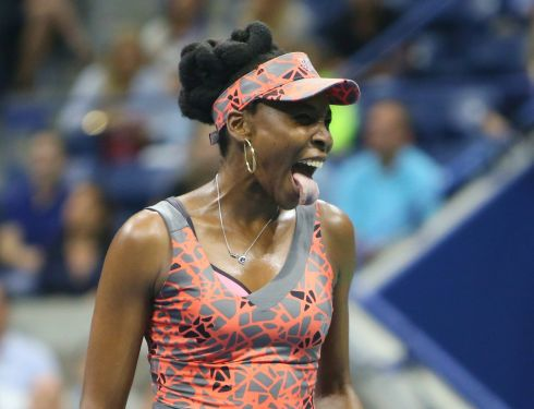 INDIAN SUMMER: Venus Williams reacts to losing a point to Petra Kvitova in the first set of their match at the US Open. Photograph: Jerry Lai