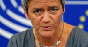 European Competition Commissioner Margrethe Vestager.   Photograph: Reuters