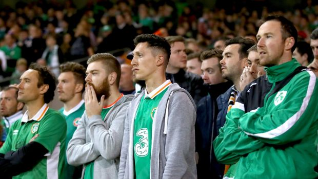 Ireland supporters need results to go their way if they are to see their side in Russia. Photograph: James Crombie/Inpho