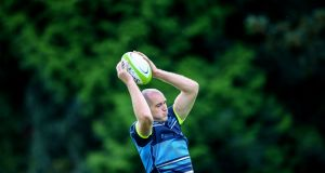 Devin Toner during Leinster  training this week at Rosemount, UCD. Photograph: Inpho