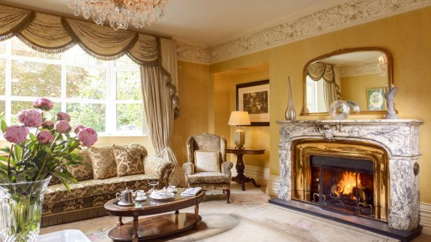 The drawing room at the five-star Killarney Park hotel
