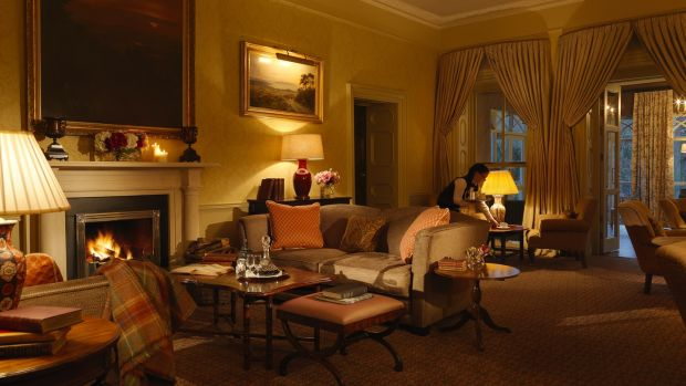 The huntsroom at Ballynahinch Castle