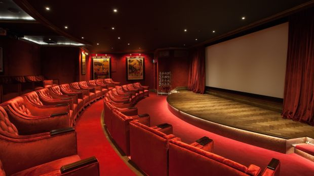 The cinema at the five-star Ashford Castle