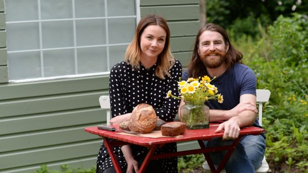 Shane Palmer and Charlotte Leonard Kane, whose Scéal Bakery has moved to bigger premises. Photograph: Dara Mac Dónaill