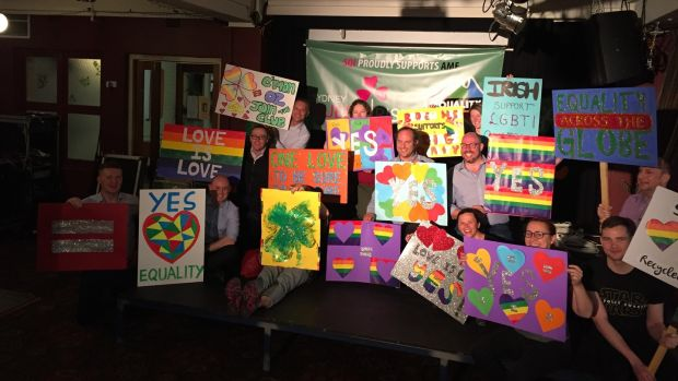 Sydney Queer Irish and members of other Irish organisations in the city gathered to make posters ahead of a major marriage equality rally in the city on Sunday.