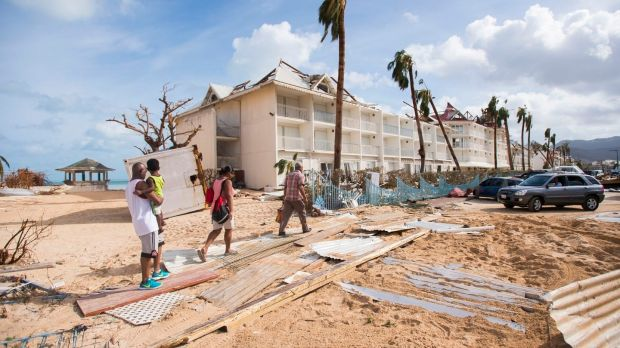 The worst-affected island so far is Saint Martin. Photograph: Lionel Chamoiseau/AFP/Getty Images
