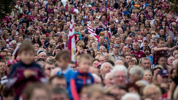 It's only now that the Galway players will realise just how much an All-Ireland means to their supporters. Photograph: Morgan Treacy/Inpho GAA