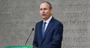 Fianna Fáil leader Micheál Martin. Some Fianna Fáil sources described his preferred government option as a 'rainbow coalition on steroids'. Photograph: Nick Bradshaw