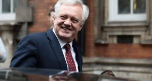 David Davis:  The sparring between Mr Davis and Michel Barnier reminds Belfast-based lawyer Brett Lockhart  of two bar-library QCs engaging in negotiation well in advance of a complicated trial. Photograph: Simon Dawson/Bloomberg
