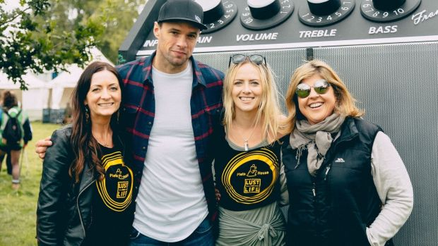 Kate Gaynor, Bressie, Susan Quirke and Paula O'Loughlin from A Lust For Life at Electric Picnic for the culmination of the #SoundEffect campaign