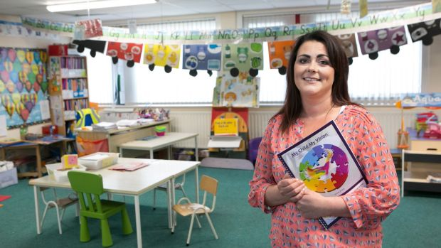 Janice Hughes pictured at St John's Girls and Infant Boys School, Limerick city. Photograph: Brian Gavin/Press 22