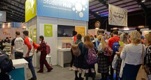 The Student Hub at the Higher Options conference at the RDS in 2016. Photograph: Eric Luke