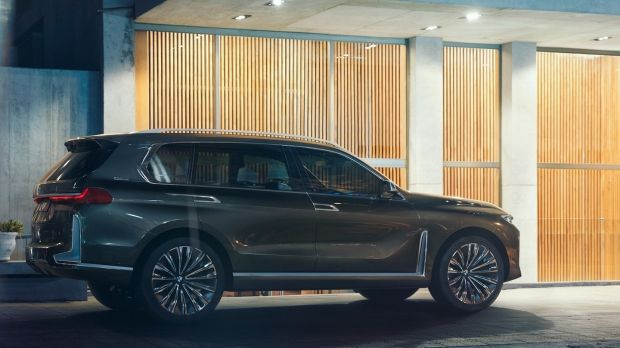 The new BMW X7 plug-in hybrid SUV concept, a seven-seater that bears remarkably similar styling to the successful Volvo XC90 - even in the choice of Scandi-style backgrounds in the imagery