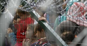 Trumpian agenda:  Budapest has erected a fence along its eastern border to keep migrants out of the country. Photograph: Srdjan Stevanovic/Getty