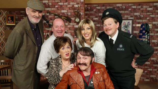 The cast of Give My Head Peace, who aare to perform at a fundraiser for the Linen Hall Library in Stormont