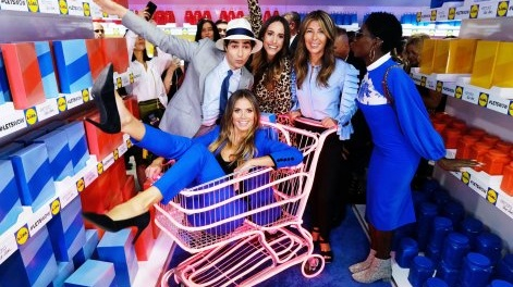 Heidi Klum launched her let's wow collection for Lidl at New York Fashion Week.
