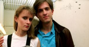 Paddy McAloon and Wendy Smith of Prefab Sprout photographed backstage in the mid 1980's. (Photo by Anthony Cake/Photoshot/Getty Images)