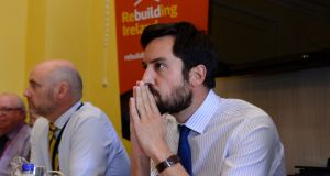 Minister for Housing Eoghan Murphy: At the Customs House yesterday, he hosted another emergency summit on homelessness. Nobody will be surprised if there will be yet more. Photograph: Cyril Byrne