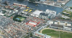 An infill residential site in the heart of Dublin's south docklands is on the market for 2.5 million through Knight Frank.
