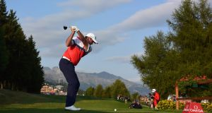 Australia's  Scott Hend in action  during the second round of the Omega European Masters at Crans-sur-Sierre Golf Club  in Crans-Montana, Switzerland. Photograph:  Stuart Franklin/Getty Images