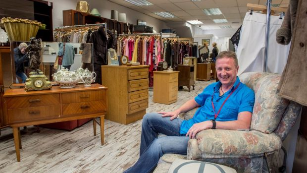 Anthony Flynn, logistics manager with Age Action at their shop on Camden Street, Dublin. Photograph: Brenda Fitzsimons/The Irish Times