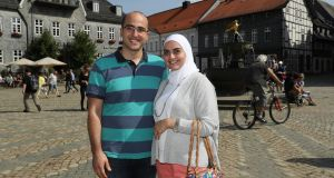 "Syrian couple and dentists Ayham and Farah Kodmany in their new home of Goslar, Germany: ""When you've lost your homeland, it's all the same whether you're in Goslar or Göttingen, once it's peaceful,"" says Ayham."