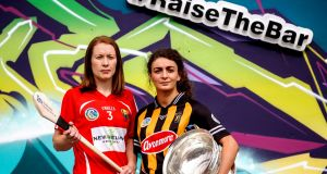 Cork's Rena Buckley and Anna Farrell of Kilkenny will face off in Sunday's All-Ireland senior camogie final at Croke Park. Photograph: James Crombie/Inpho