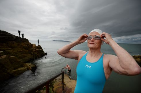 GOING SWIMMINGLY: Claire O'Dwyer (75) trains for the Dublin City Liffey Swim. Photograph: Alan Betson/The Irish Times