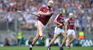 Galway against Waterford in the All Ireland senior hurling final at Croke Park, Dublin. Photograph: Dara Mac Dónaill / The Irish Times