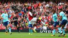 Danny Welbeck scored a brace as Arsenal swept past Bournemouth at the Emirates. Photograph: Clive Rose/Getty
