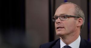 "Simon Coveney   said that Britain, Ireland and the rest of the EU should work towards ensuring an orderly Brexit with a ""substantial"" transitional period to offer certainty to business. Photograph: Ints Kalnins/Reuters"