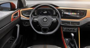 Volkswagen has joined the two digital screens together to form one extended panel that stretches across two-thirds of the dash.