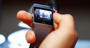 The new Fitbit Ionic automatically detects when you start exercising. Photograph:  Fabrizio Bensch/Reuters