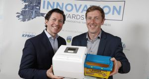 Jim Joyce (left), chief executive of HealthBeacon, with the firm's CTO Kieran Daly