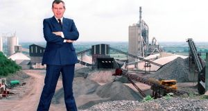 Sean Quinn at his cement plant at Derrylin in 1991. Photograph: Jack McManus