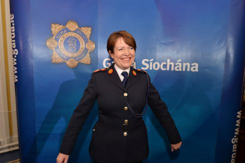 READY TO START: Nóirín O'Sullivan at the press conference at Garda Headquarters in the Phoenix Park. Photograph: Alan Betson/The Irish Times