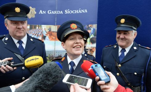 NEW RECRUITS: Nóirín O'Sullivan as acting Garda commissioner at the Reserve Graduation ceremony at the Garda College, Templemore. Photograph: Brenda Fitzsimons/The Irish Times