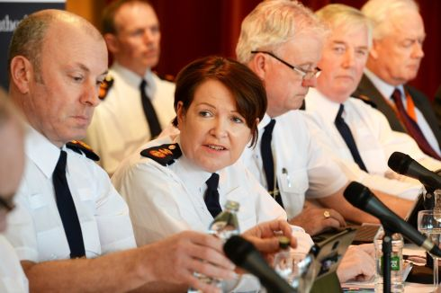 UNDER SCRUTINY: Garda Commissioner Nóirín O'Sullivan during the Policing Authority public meeting at Griffith College in February. Photograph: Cyril Byrne/The Irish Times