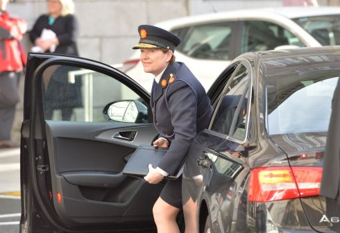 SAYING HER PIECE: The Garda Commissioner on her way to give evidence to a Dáil Committee in November 2015. Photograph: Alan Betson/The Irish Times