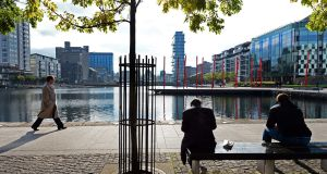 "Grand Canal Dock in Dublin. The city was also chosen, alongside Shanghai, Singapore and Frankfurt, as one of the 15 centres ""likely to become more significant"". Photograph: Eric Luke"