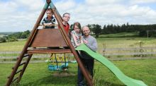 Colman Noctor,  child psychotherapist,  with his children Harry (2), Odhran (7), and Layla (4) at home in Co Wickow. Photograph: Aidan Crawley