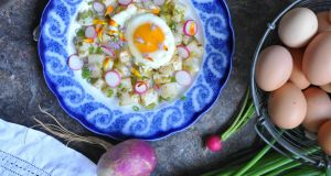 Turnip hash with Parmesan and radish