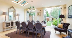 Dining area at 46 Villiers Road, Rathgar.